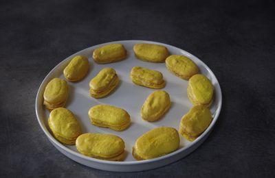 Macarons longs au citron