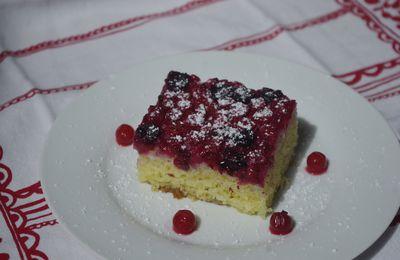 Gâteau renversé groseilles/cassis