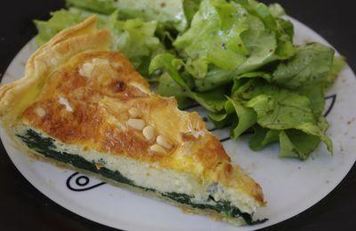 Tarte fromage/épinards