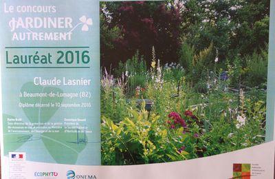 Le jardin de Claude Lasnier récompensé par la Société d'Horticulture de France.