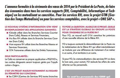 DO2P/CSRH – GTM « gestion des temps mutualisés » vers une réforme de la filière RH !