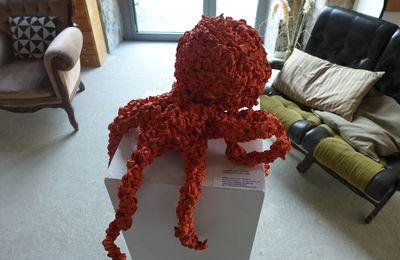 Pendant ce temps là La Pieuvre se prélassait dans un salon à DARWIN invitée par le festival OCEAN  CLIMAX 2016