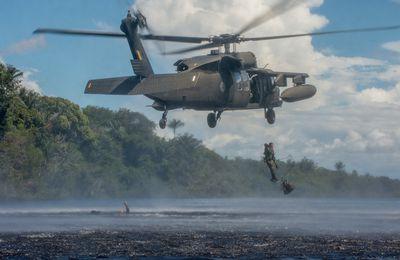 Manaus ou l'école des combattants de la jungle : rappel, corde lisse et dropping