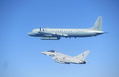 RAF Typhoons make two separate intercepts of Russian aircraft on one sortie