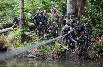 Gabon : stage international de combat en jungle