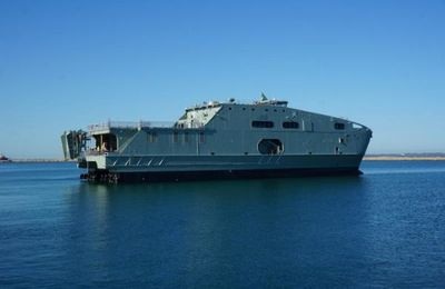 Austal launches Oman Navy support ship