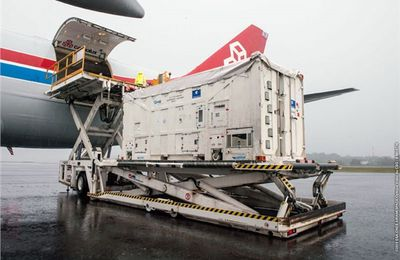 2 Galileo Satellites Arrive in French Guiana for Arianespace's Year-Ending Soyuz Mission