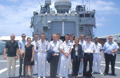FAZSOI : Visite de parlementaires à bord de la FS Floréal