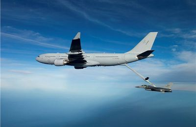 AF KC-30A MRTT Returns from Successful Refuelling Trials With F-16 Fighter