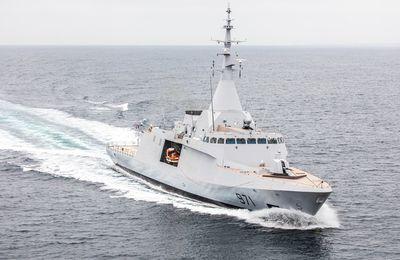 La première corvette Gowind®2500 de DCNS réussit ses premiers essais à la mer.