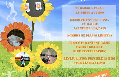 Dossier d'inscription pour le stage multisports 2015 - VAUXBUIN