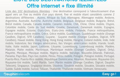 "Dauphin Telecom : ""Easy Connect"" passera de 61 à 102 destinations incluses !"