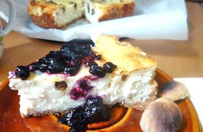 Le cheesecake automnal aux marrons grillés et chocolat blanc