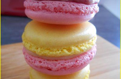 Macarons Framboise (partenaire Cuisine Addict)