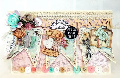 DT Art du Scrapbooking...  Création avec le kit Needle and Thread de Kaisercraft...