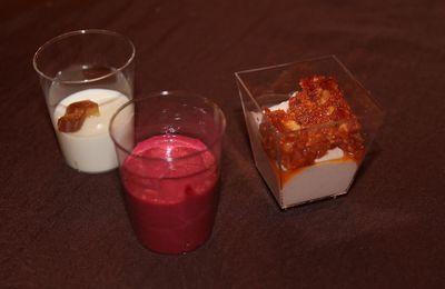 Verrine jambon et pesto de tomates séchées