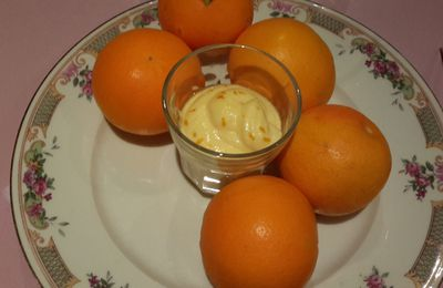 mousse à l'orange au mascarpone