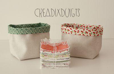 Paniers en tissu + Lingettes lavables