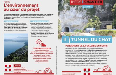 Le travaux au tunnel du Chat en Savoie