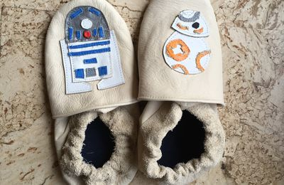 Pantoufles en cuir Star Wars