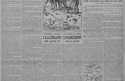 Centenaire 14/18- Les unes du jour d'il y a 100 ans sur le site de Gallica - 8 JUIN 1917.