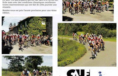 Le cyclosport de Chassenon apparaît dans le dernier journal communal