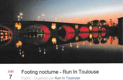 FOOTING NOTURNE A TOULOUSE