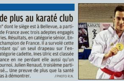 Un champion de plus au Karaté Club Le Ronin