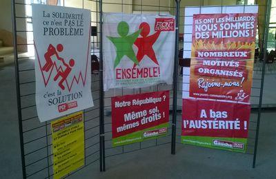 """Tractage à l'Université d'été de """"Limousin, Terre de Gauche"""""""