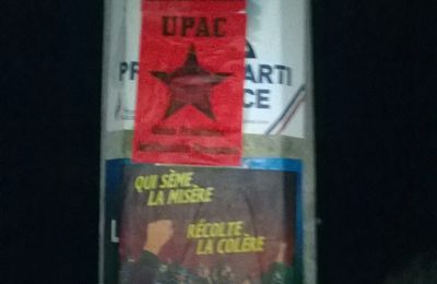 Collage antifasciste sur La Souterraine.