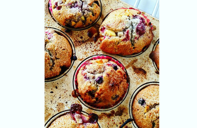 Muffins aux fruits rouges /chocolat blanc