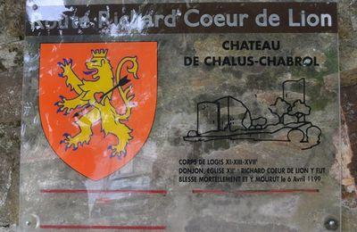 Sur la route Richard Coeur de Lion: Châlus, - 9/ -