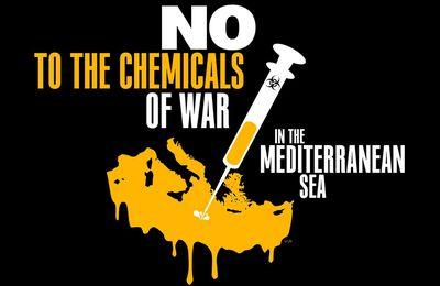 NO to the chemicals of war in mediterranean sea : mobilisation des Crétois contre le danger chimique en Méditerranée