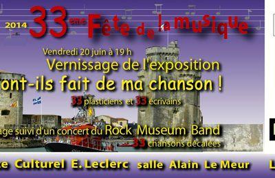 Participation à la fête de la musique 2014 du musée du Rock à La Rochelle
