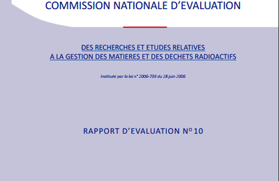 Commission Nationale d'Evaluation : rapport N° 10