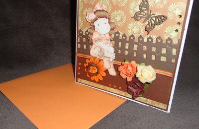 """Carte Magnolia """"Tilda aux couleurs de l'automne"""""""