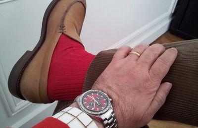 Les Chaussettes rouges en grandes Pompes