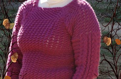 Pull top down au crochet