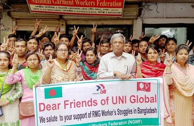 Breakthrough in Bangladesh as unionists and garment workers are freed following international pressure