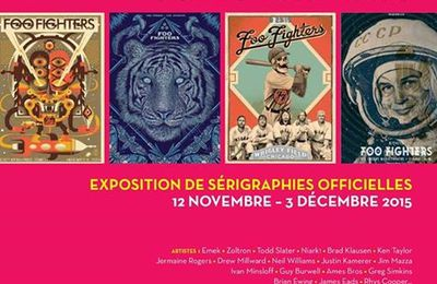 "Foo Fighters : Exposition ""Sonic Art Ways"" à Paris"