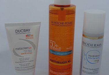 Pour un été sans coup de soleil (Hydrabio de Bioderma, Anthelios XL huile de La Roche-Posay, Melascreen UV de Ducray)