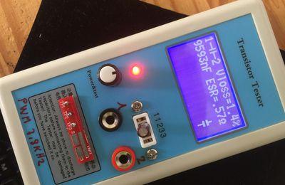Test d'un testeur de composant M12864 LCR ESR PWM
