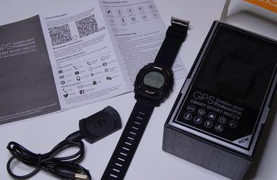 Test d'une smartwatch S928 GPS Sport fournie par GEARBEST (LCD monochrome 128*128)