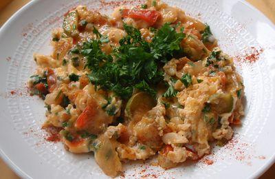omelette aux légumes (maklama)
