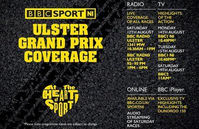 Programmation Ulster GP 2017 sur la BBC NI SPORT