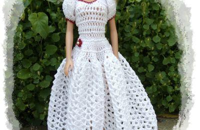 robe de soirée pour Barbie