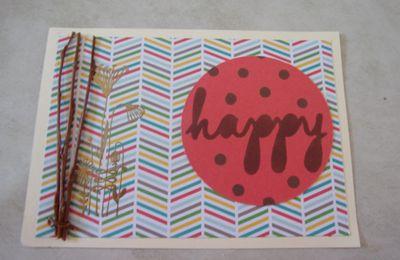 cartes reçues pour mon anniversaire