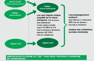 Projet de loi sur la simplification des régimes de l'entreprise individuelle