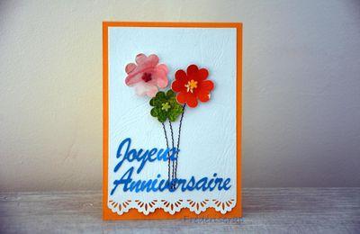 Bouquet fleuri d'anniversaire