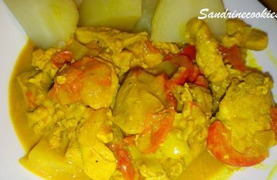 Poulet curry-coco